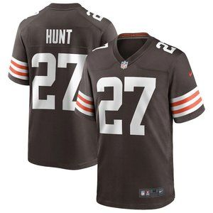 Browns Donovan Kareem Hunt Brown Jersey